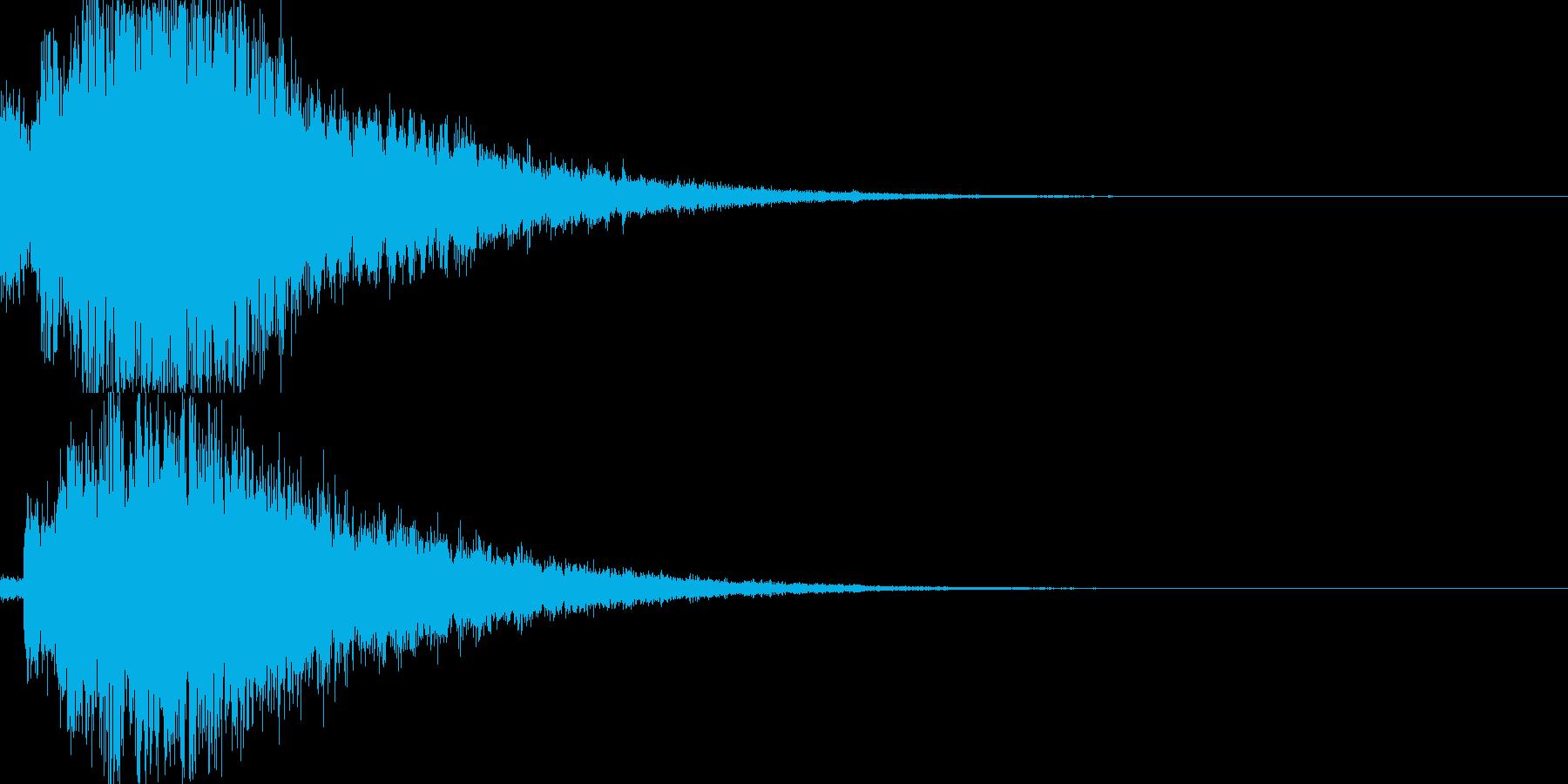 システム音29_シンセDXの再生済みの波形