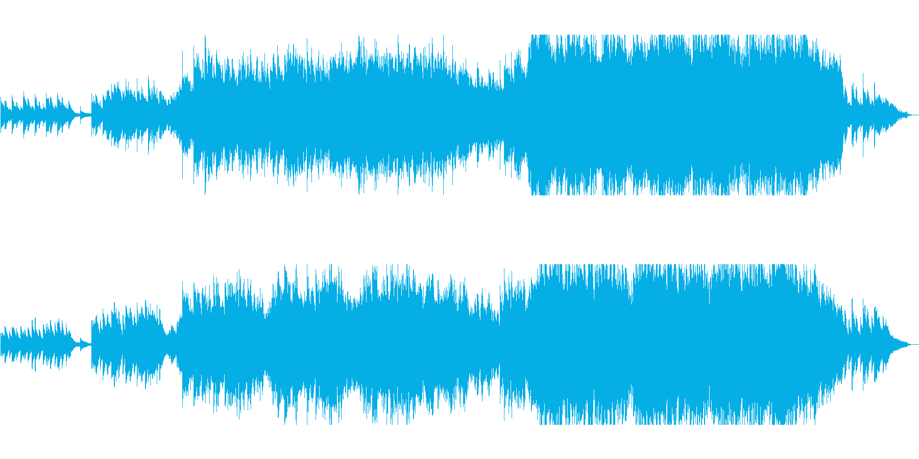 ピアノとストリングスの壮大で感動的な曲の再生済みの波形