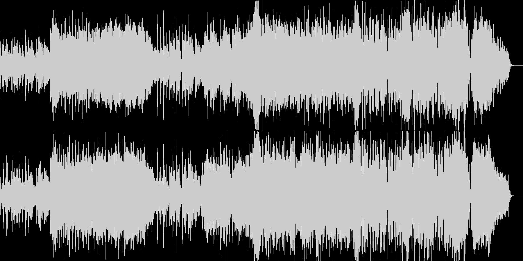 琴の音が印象的な日本的で和風なBGMの未再生の波形
