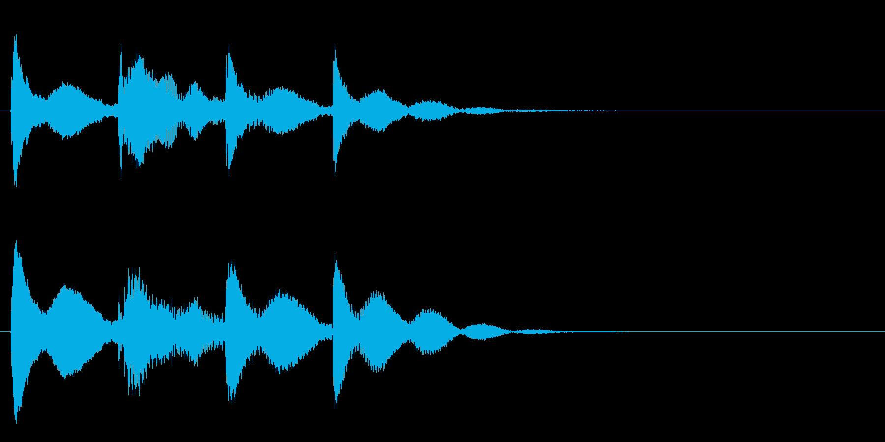 【ティントンティトン】スチールドラムの音の再生済みの波形