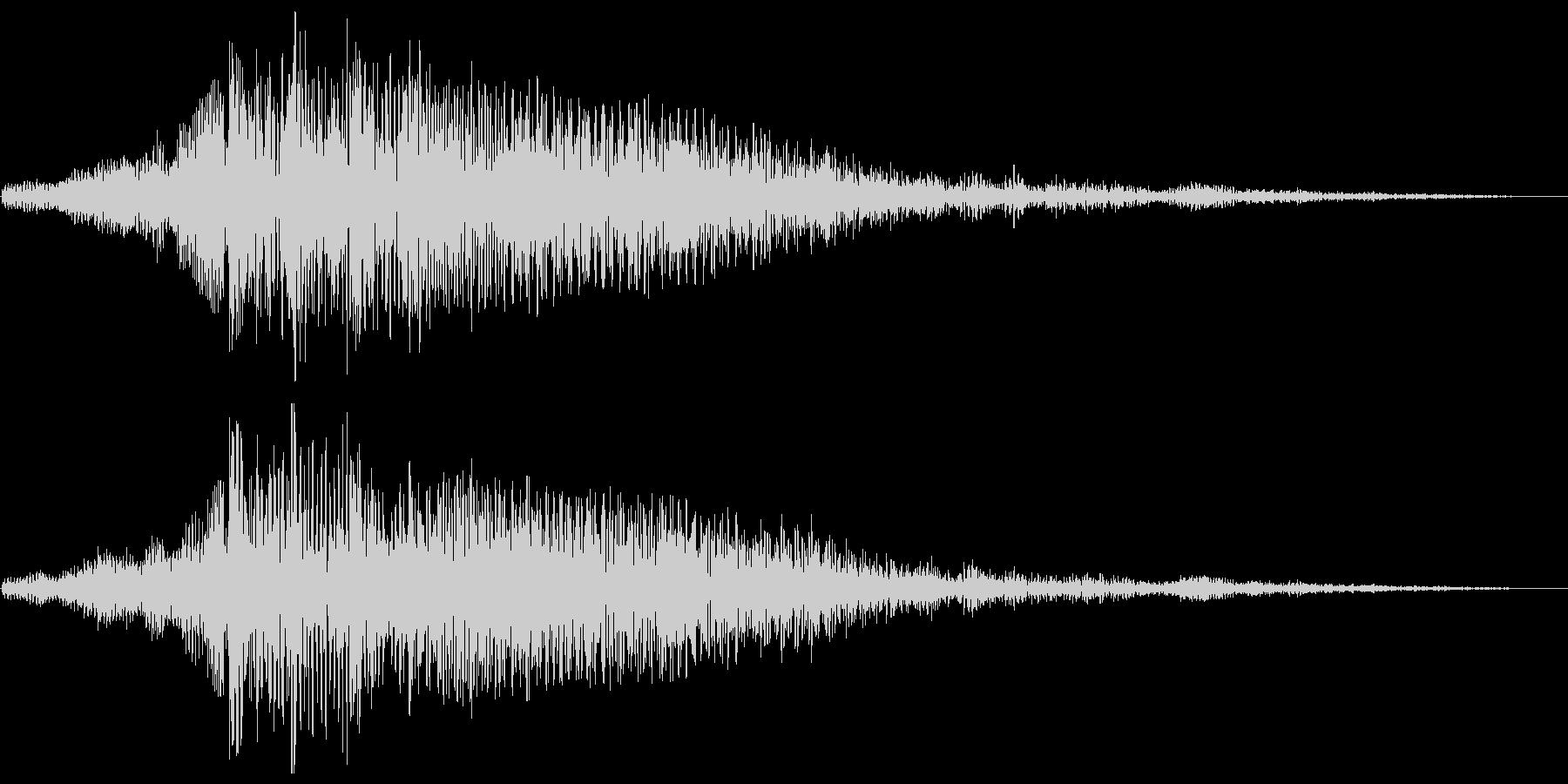 長く暗いジングル系スペース音の未再生の波形