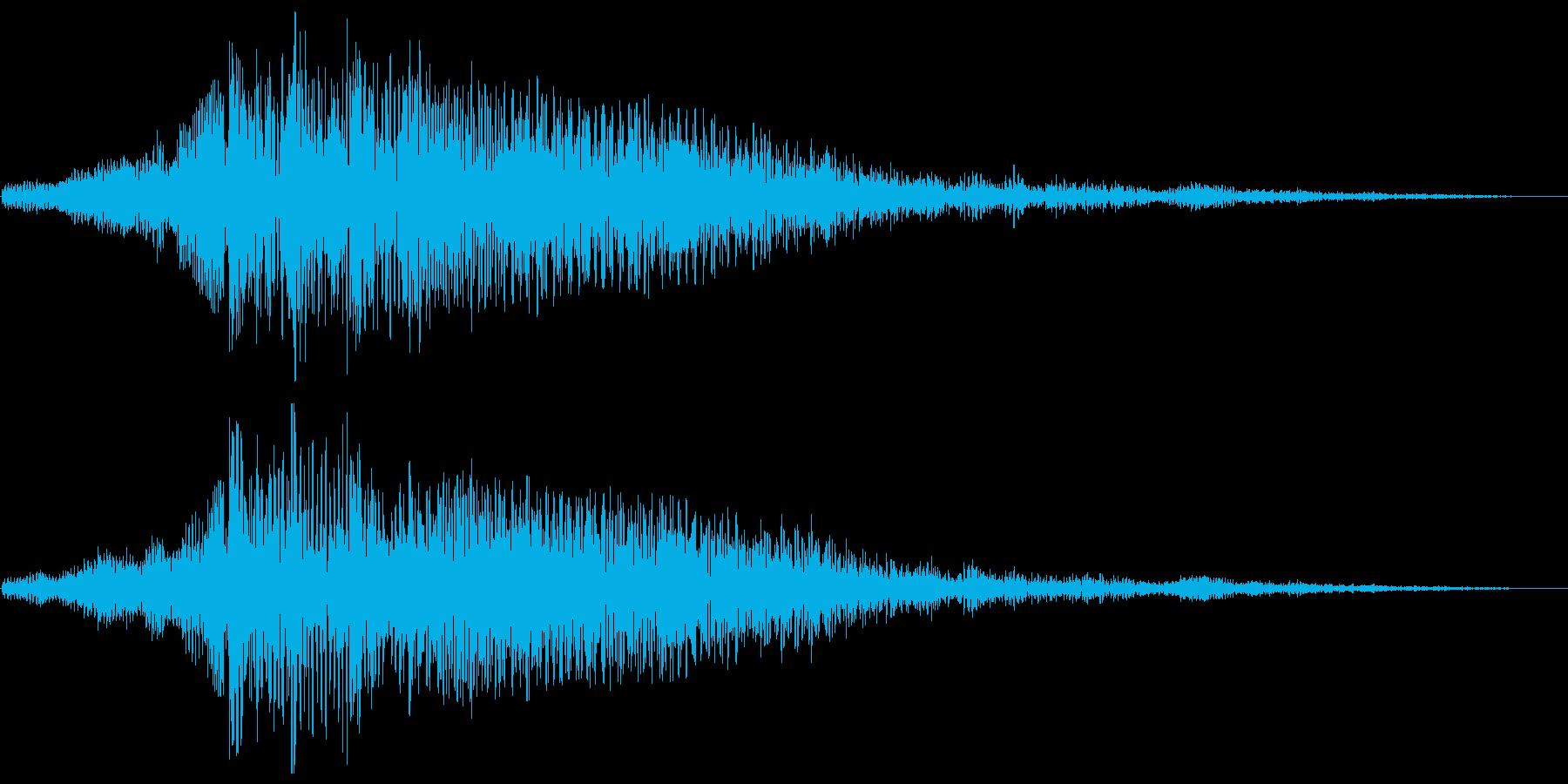 長く暗いジングル系スペース音の再生済みの波形