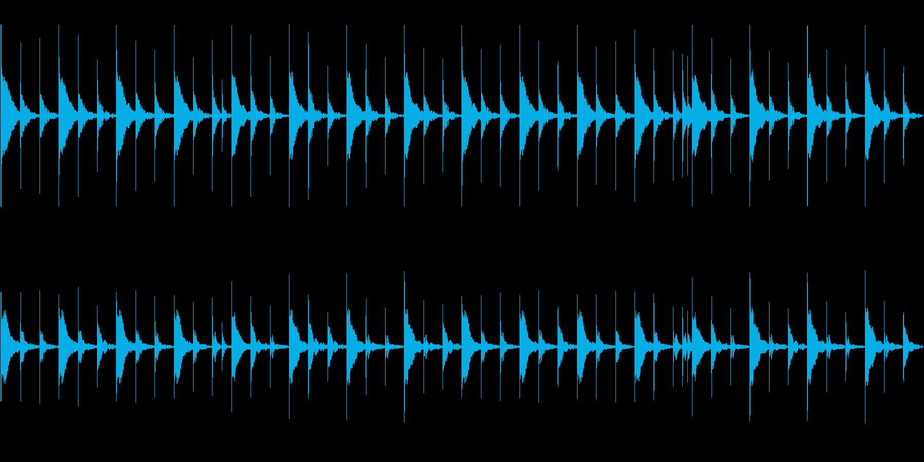 マリンバの静かな雰囲気。3拍子の再生済みの波形