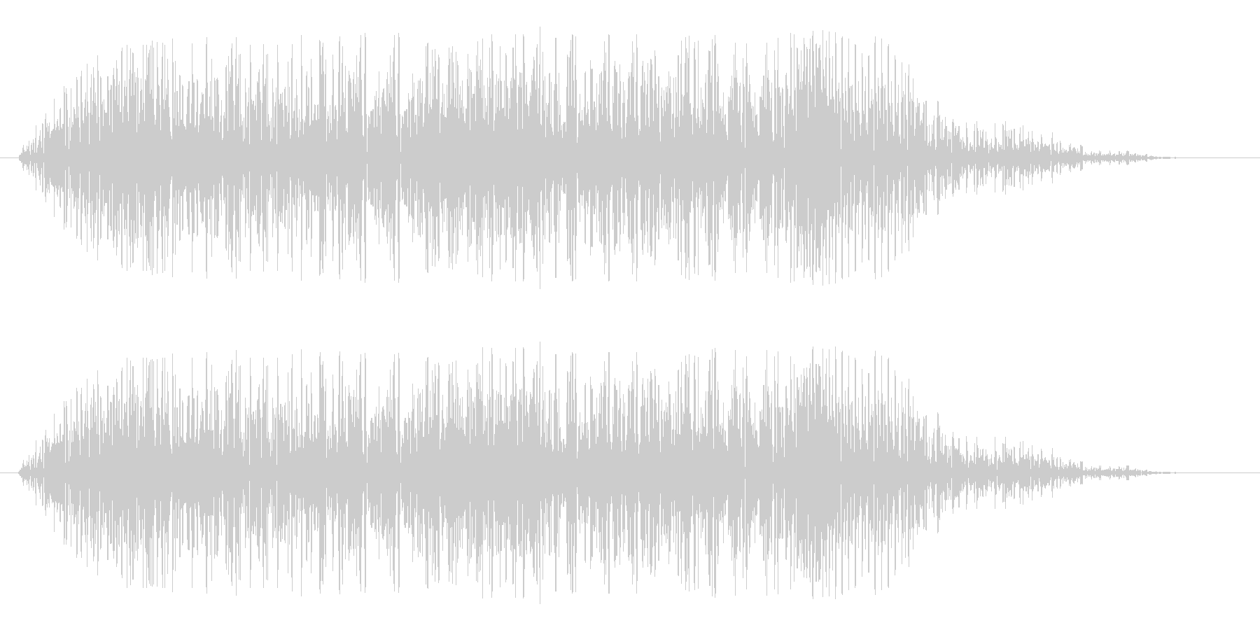 ガオーッ(ライオンの声)の未再生の波形
