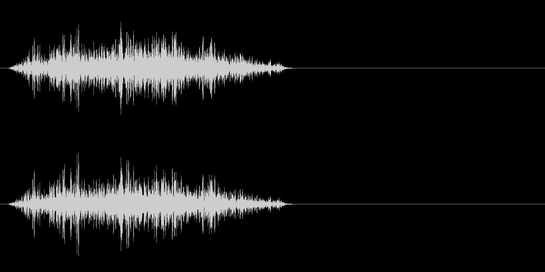モンスター発声 3の未再生の波形