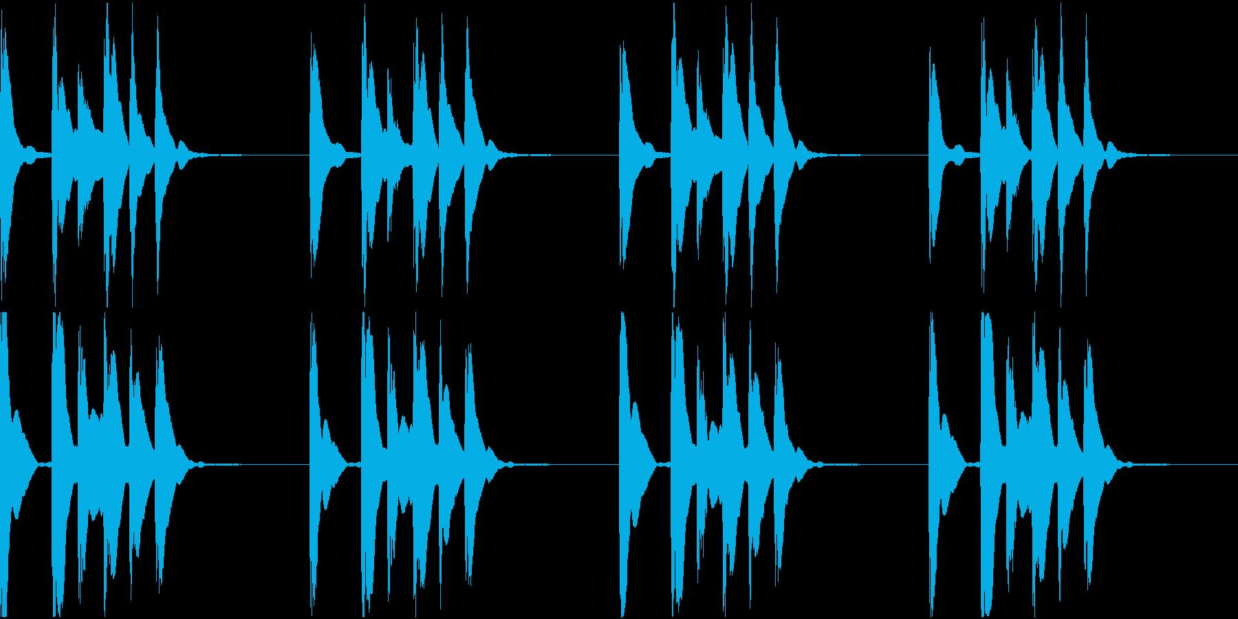 シンプル ベル 着信音 チャイム C10の再生済みの波形