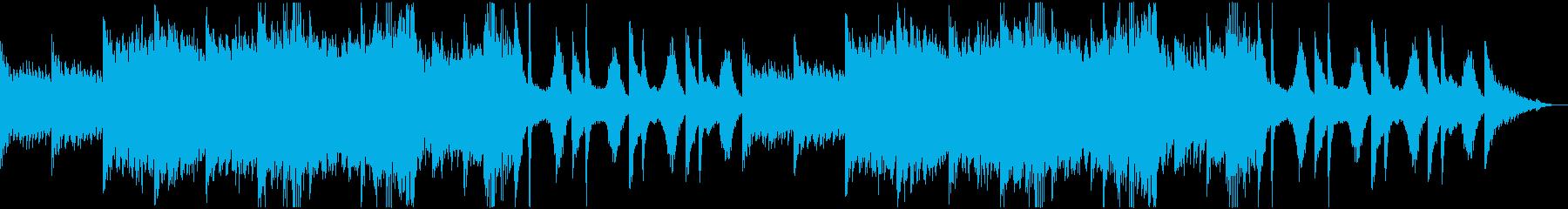 不穏、重苦しい雰囲気に合うホラー系BGMの再生済みの波形