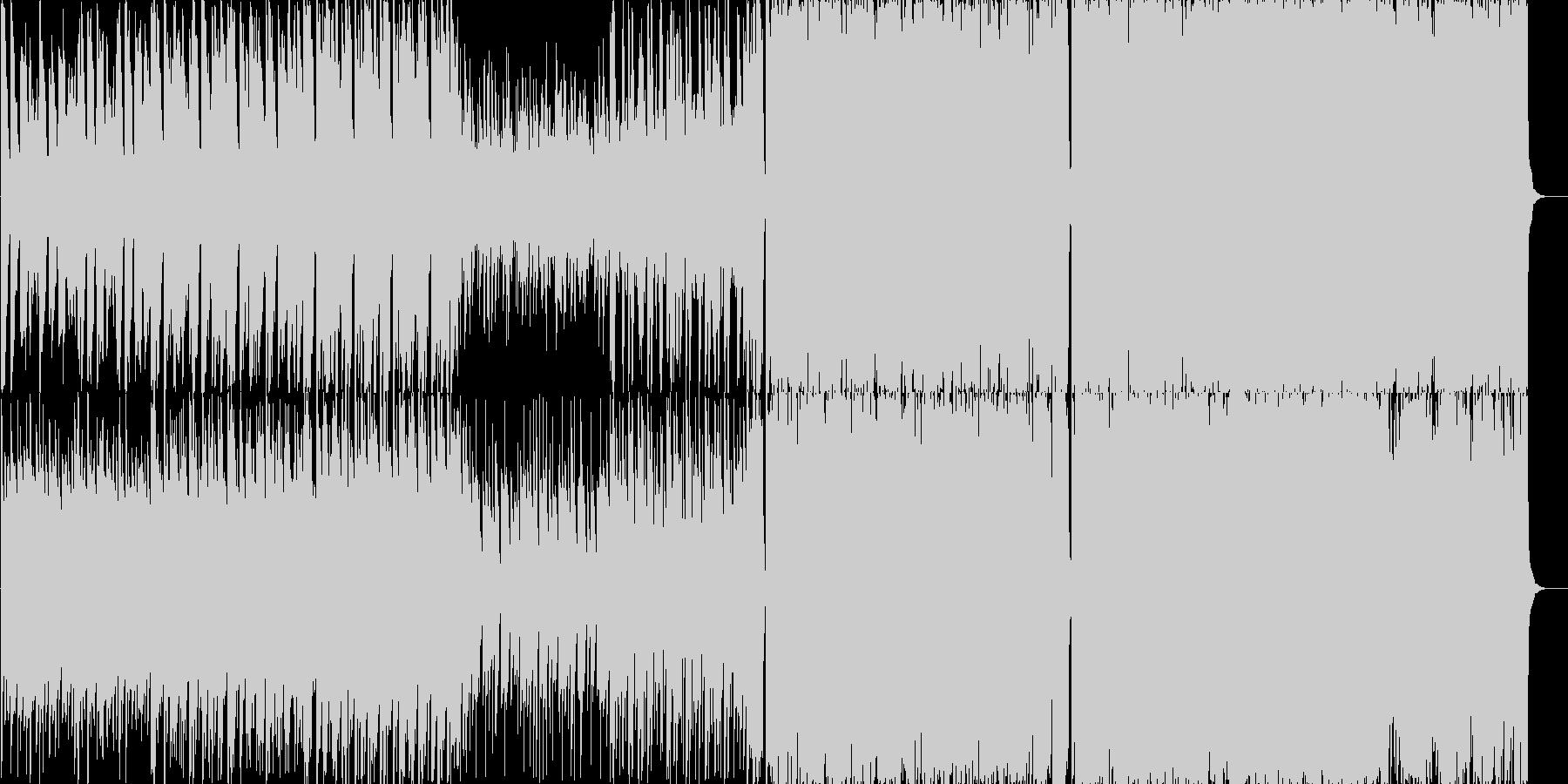 アコースティックギターのインストの未再生の波形