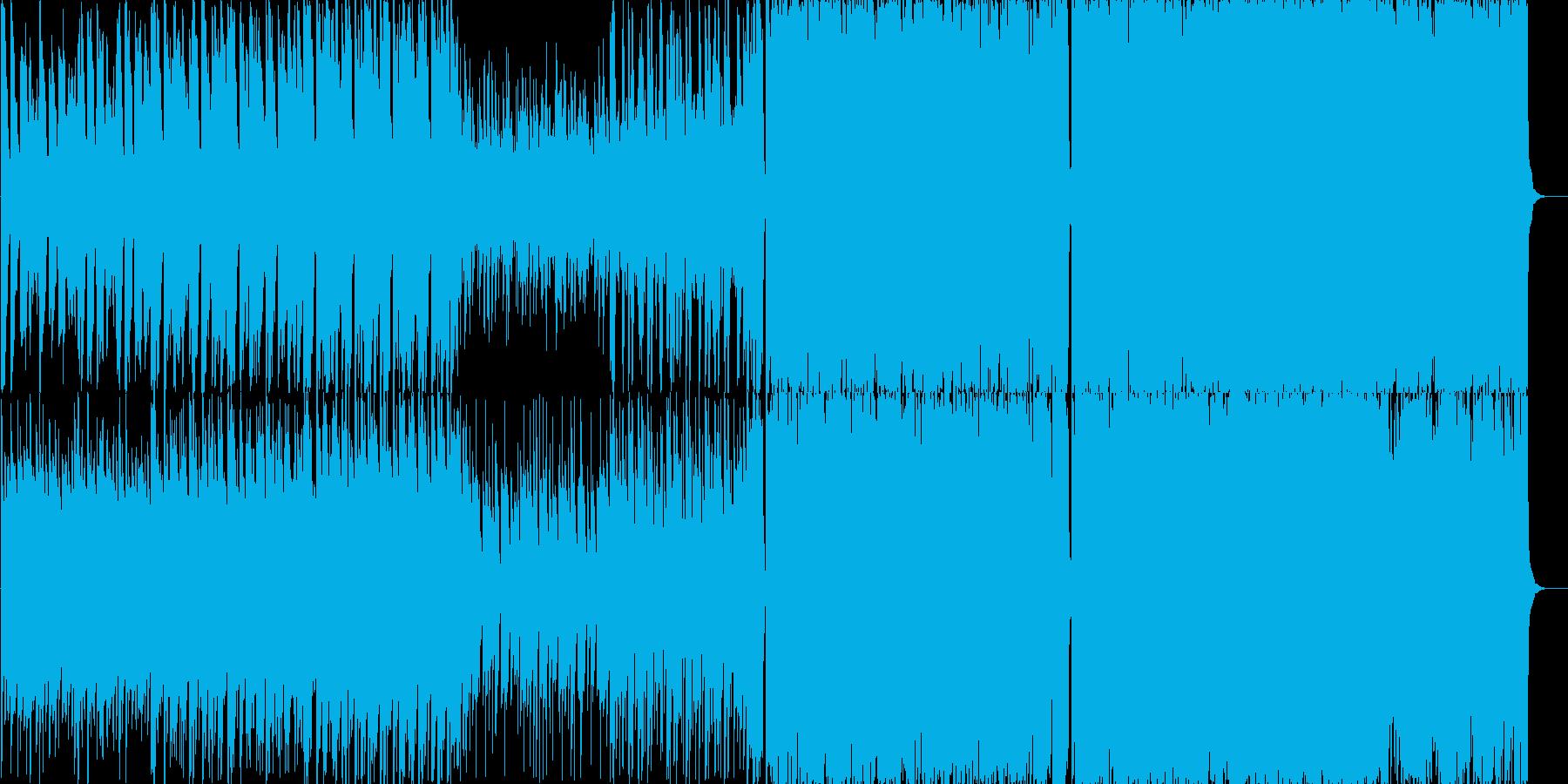 アコースティックギターのインストの再生済みの波形