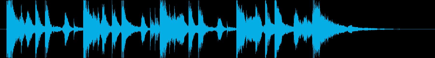 ほのぼの系ジングルの再生済みの波形