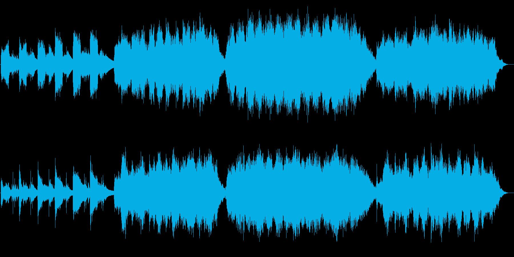 夢の中のようなピアノヒーリング曲の再生済みの波形