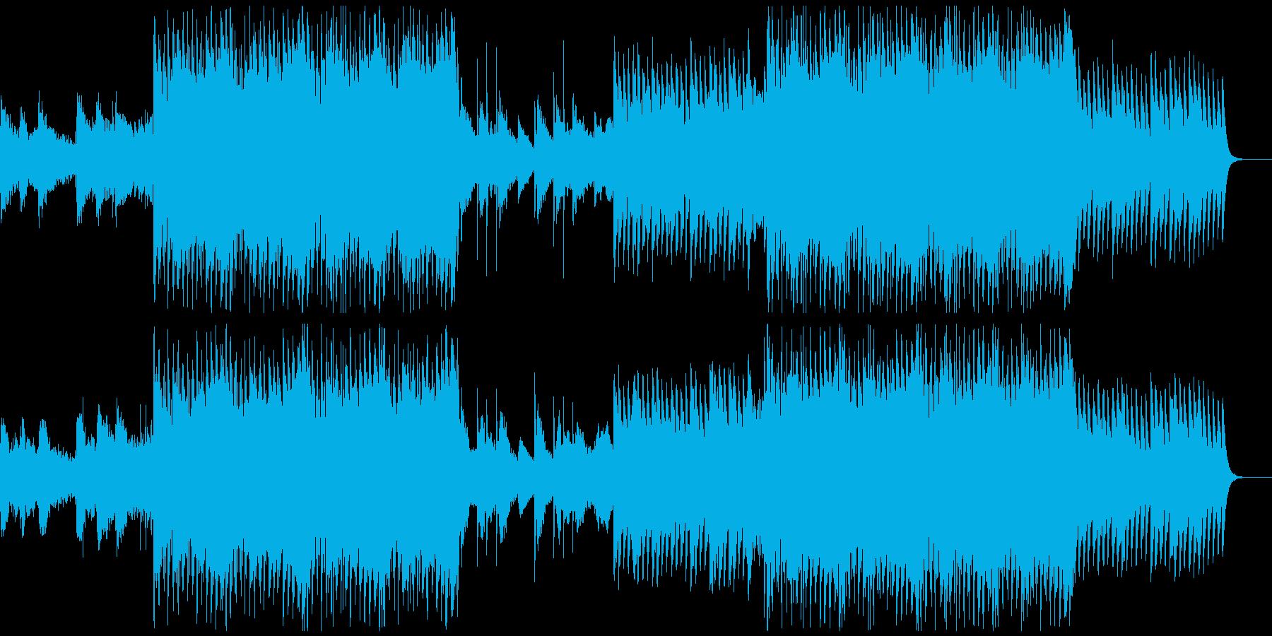 感動を演出するCM、爽やか動画、フルの再生済みの波形