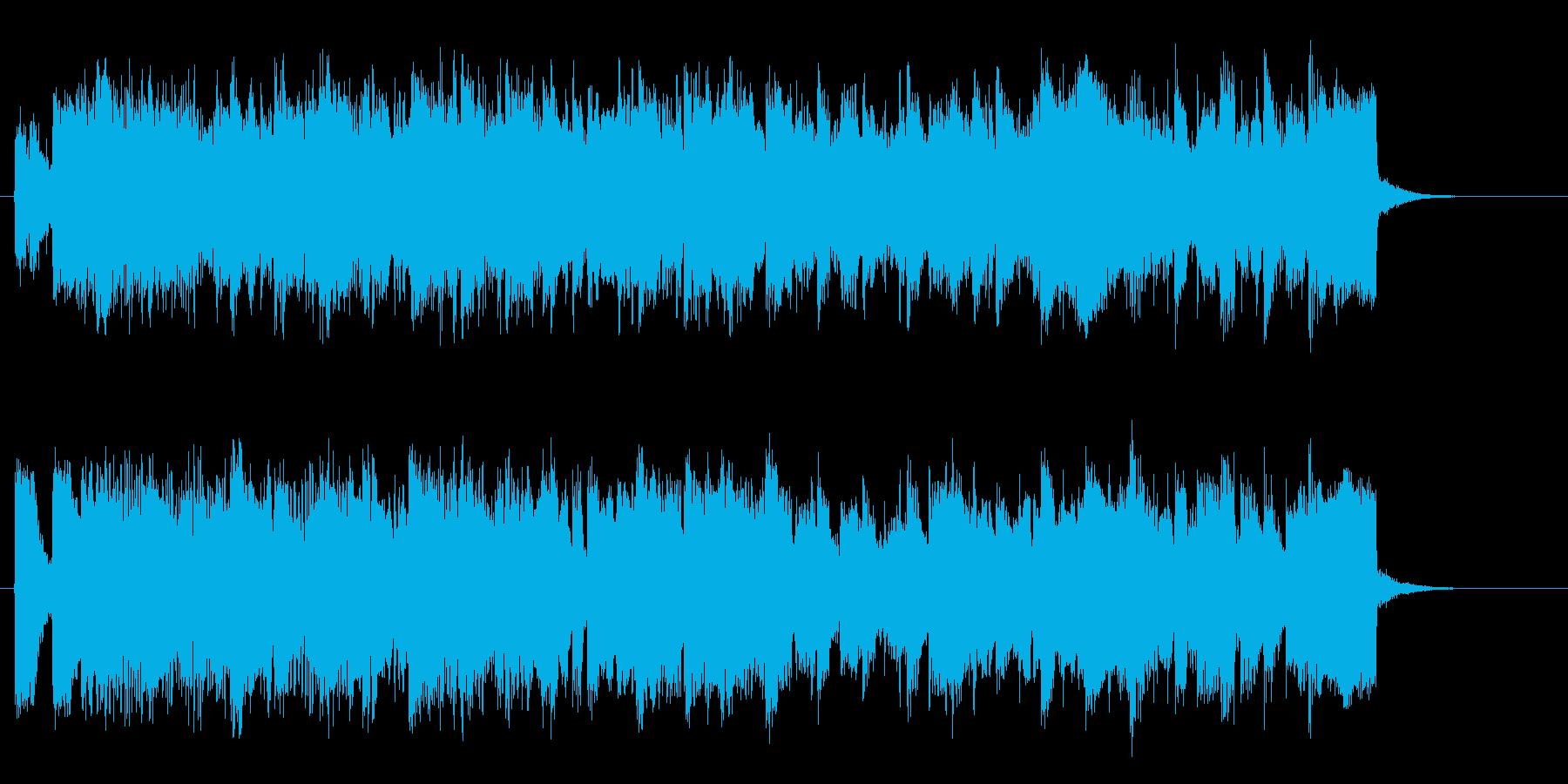 おしゃれなピアノバンドによるジングルの再生済みの波形