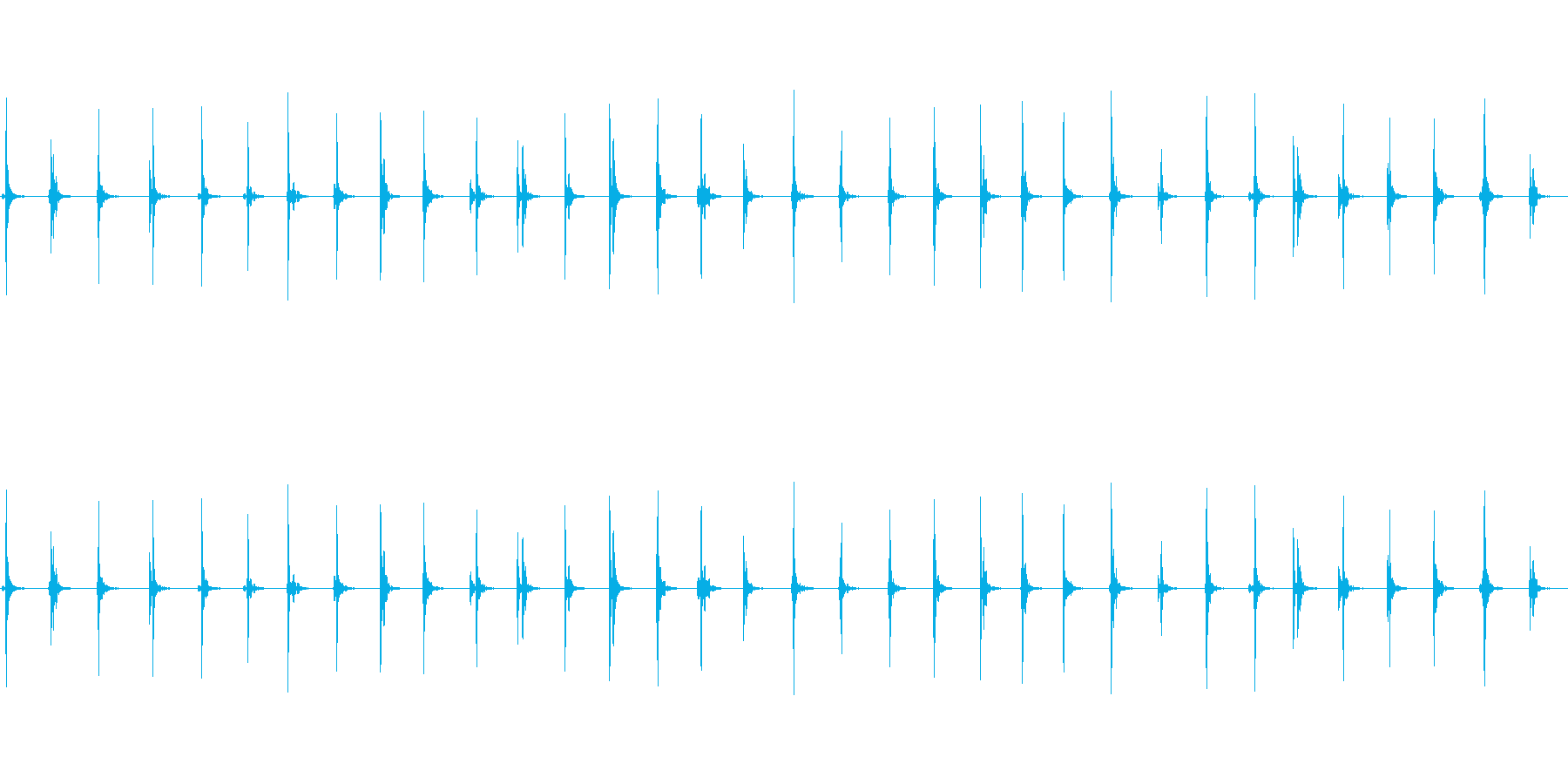 【足音02-2L】の再生済みの波形