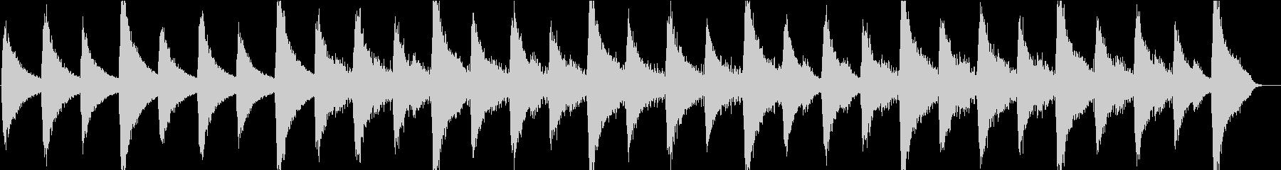リラクゼーションBGMの未再生の波形