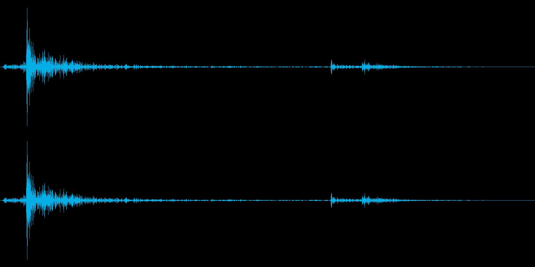 カーソル移動音6の再生済みの波形
