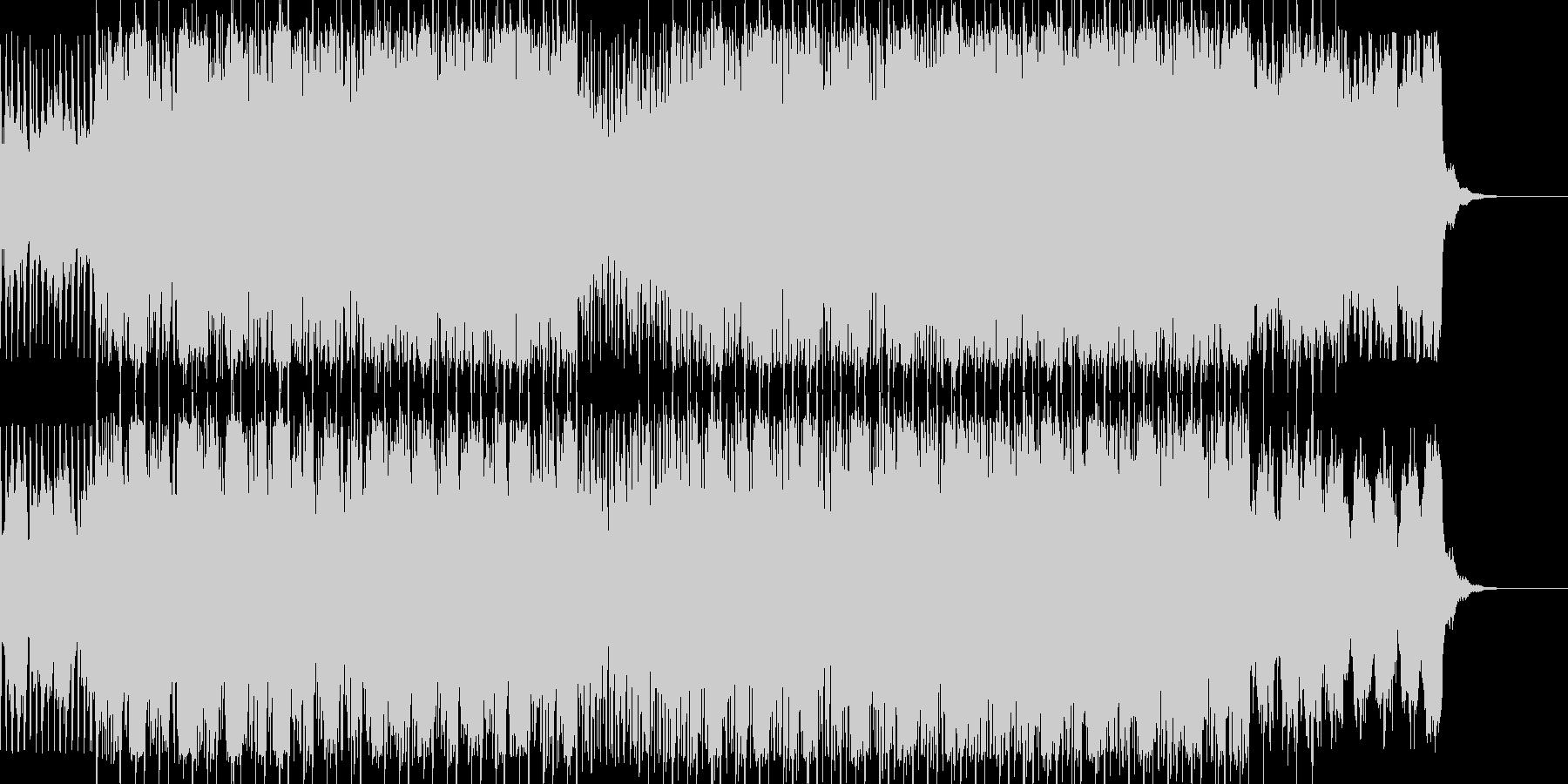 疾走感あるスリリングでシネマティックな曲の未再生の波形