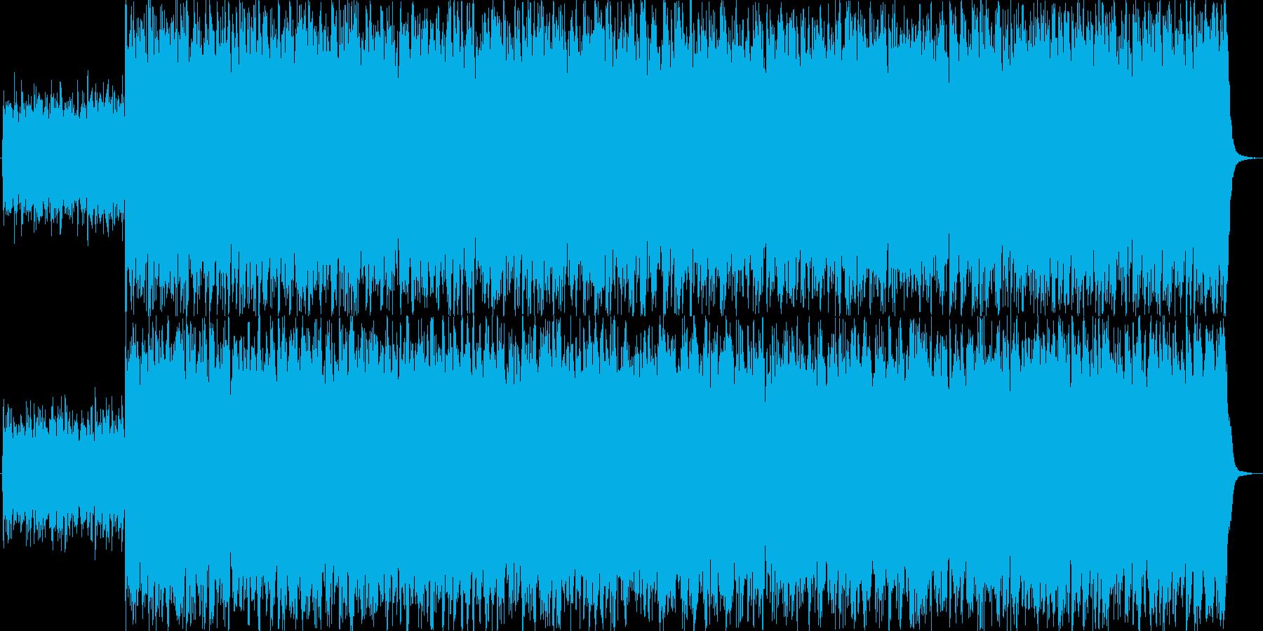 シリアスで緊張感のある曲の再生済みの波形