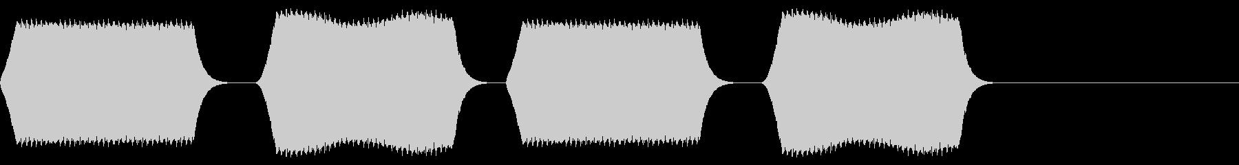 ピピピピ:デジタルテキスト音の未再生の波形