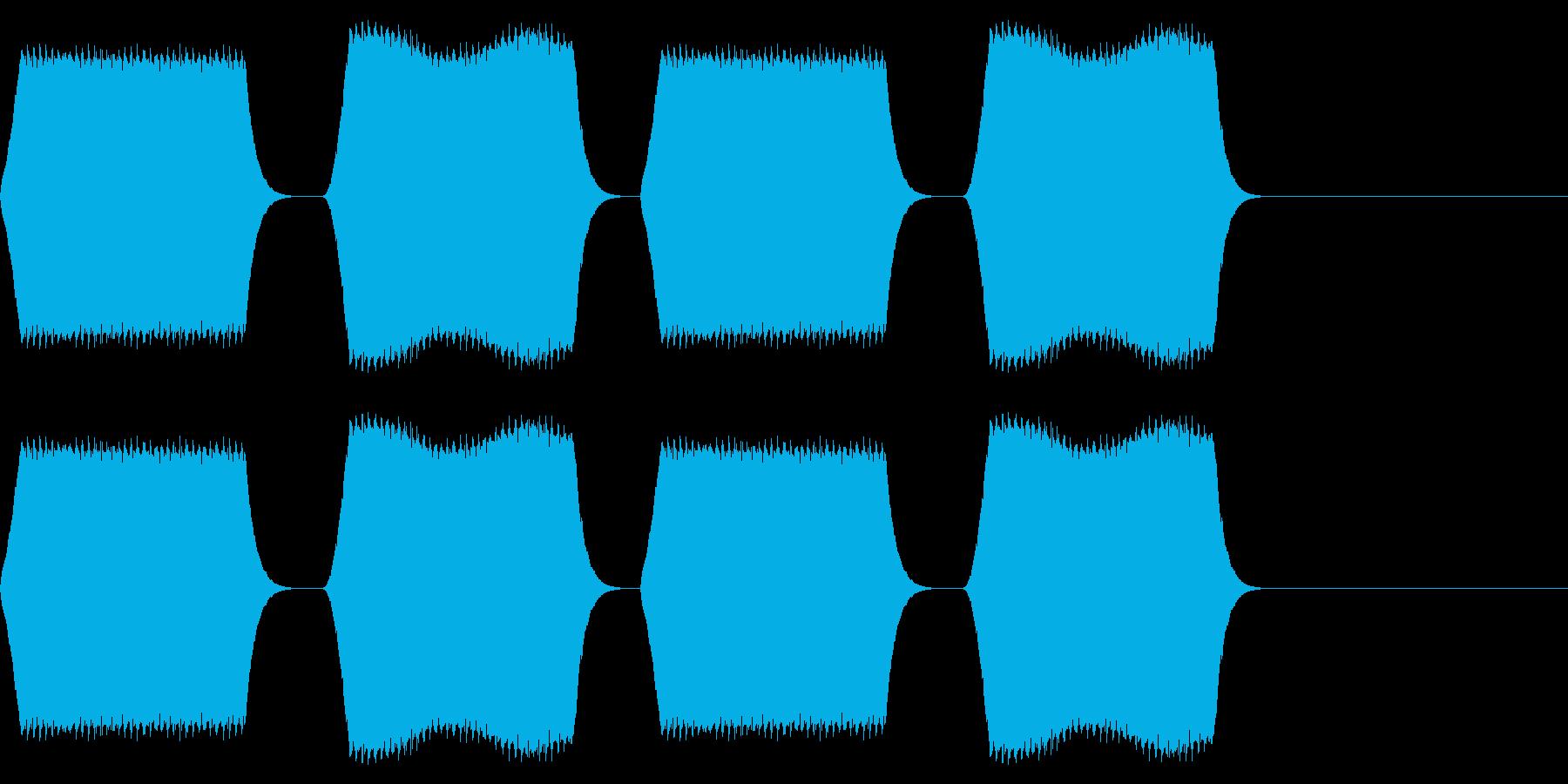 ピピピピ:デジタルテキスト音の再生済みの波形