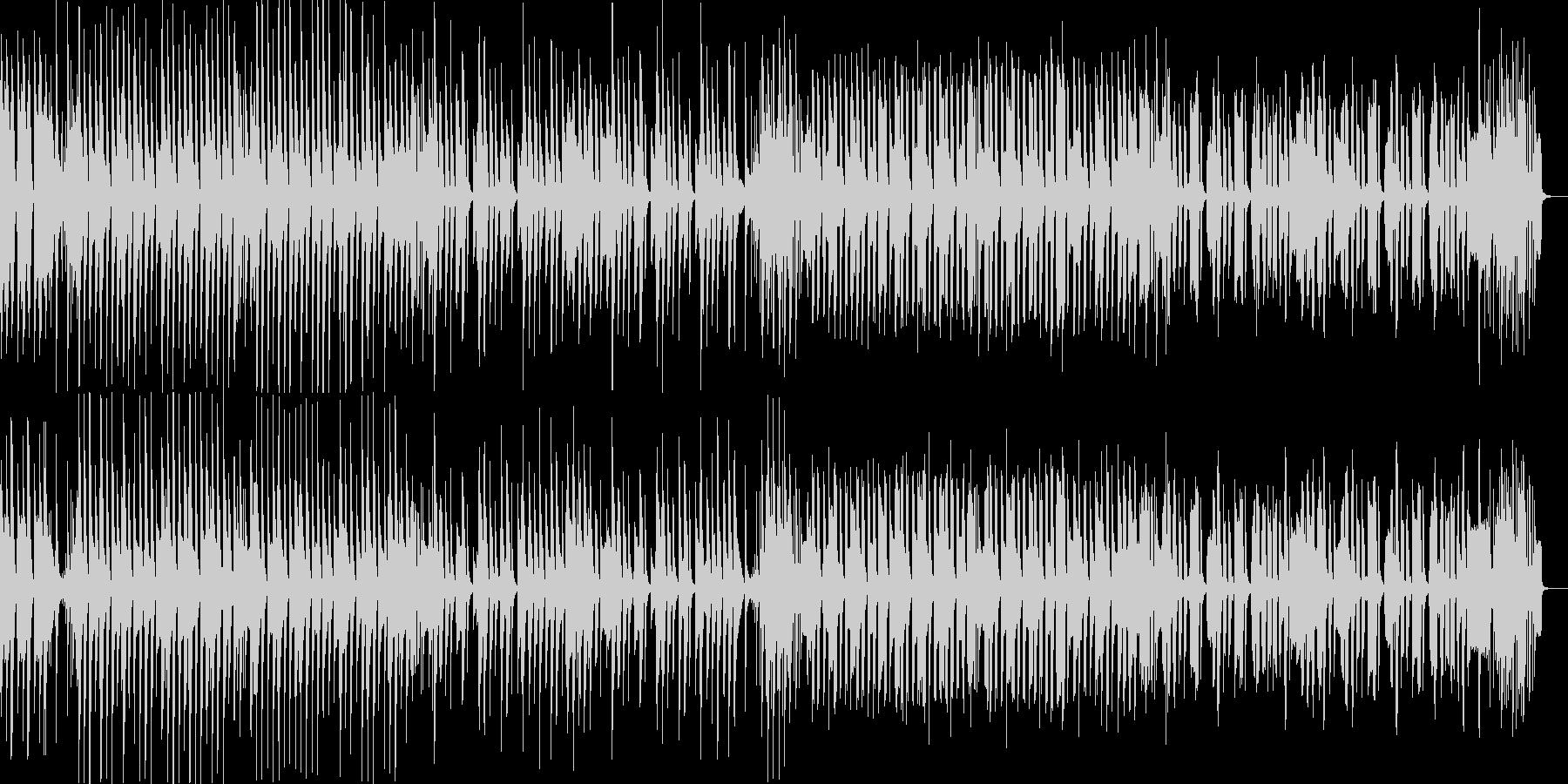 日常系/ほのぼの系 シンプルなピアノ曲の未再生の波形