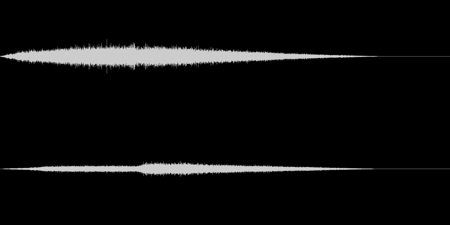 ジュワワワ~ 唐揚げ お肉を焼く音の未再生の波形