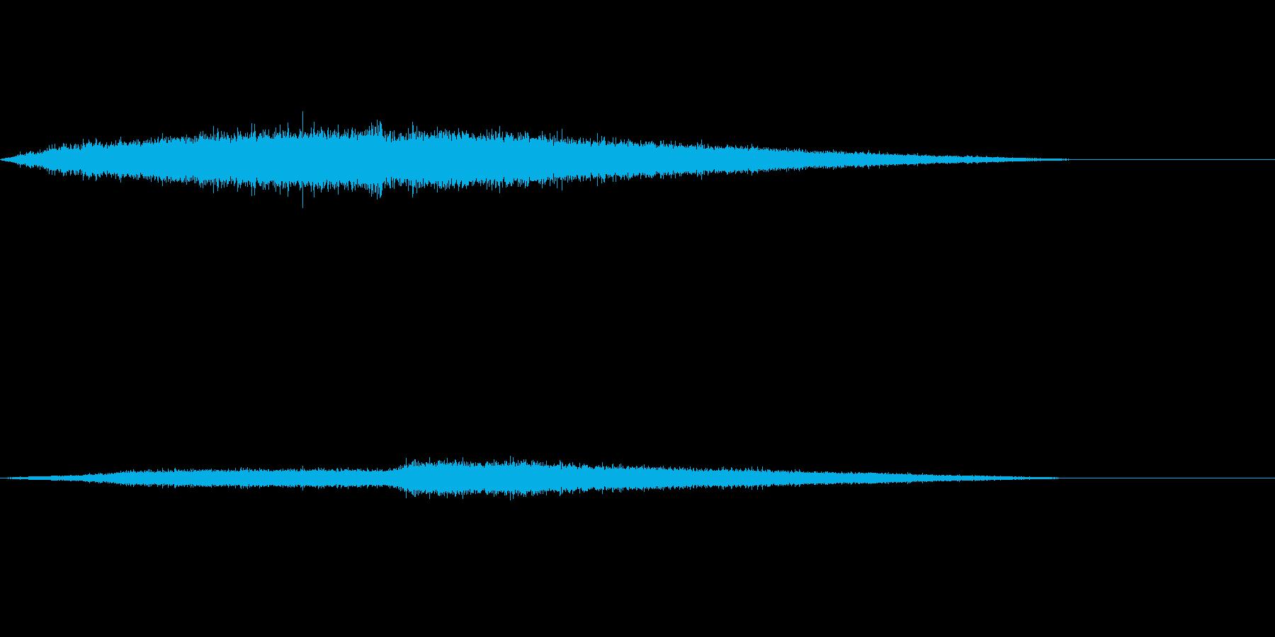 ジュワワワ~ 唐揚げ お肉を焼く音の再生済みの波形