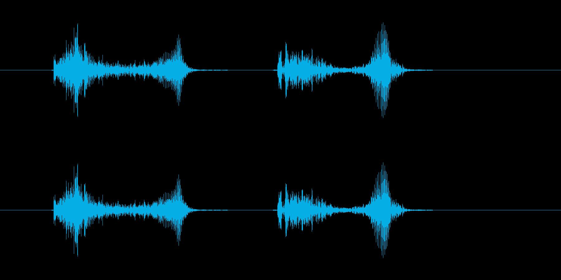 (かわいい咳_2)の再生済みの波形