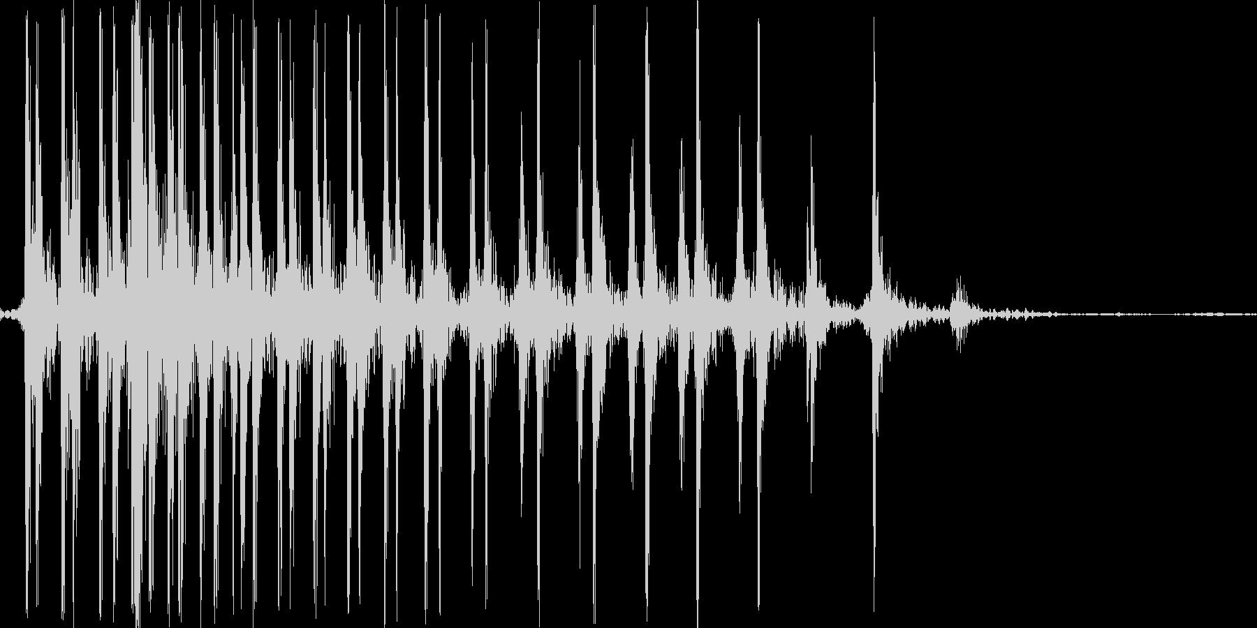 ギー。ゼンマイを巻く音の未再生の波形