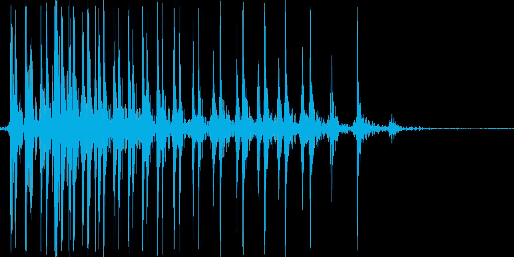 ギー。ゼンマイを巻く音の再生済みの波形