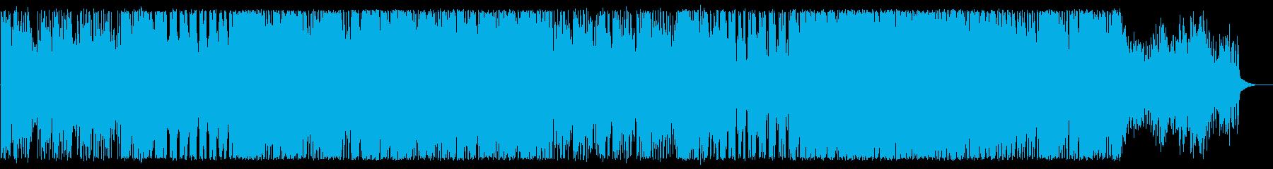 ピアノとストリングスの切ないテクノの再生済みの波形