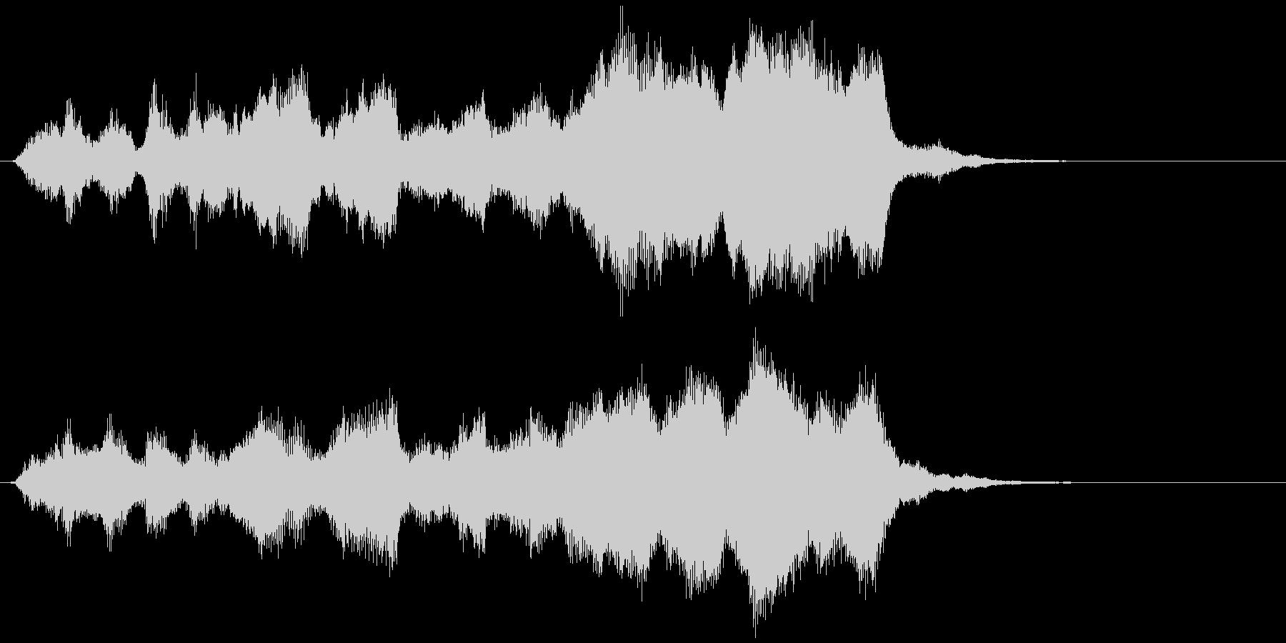 ストリングスの場転、導入ジングルの未再生の波形