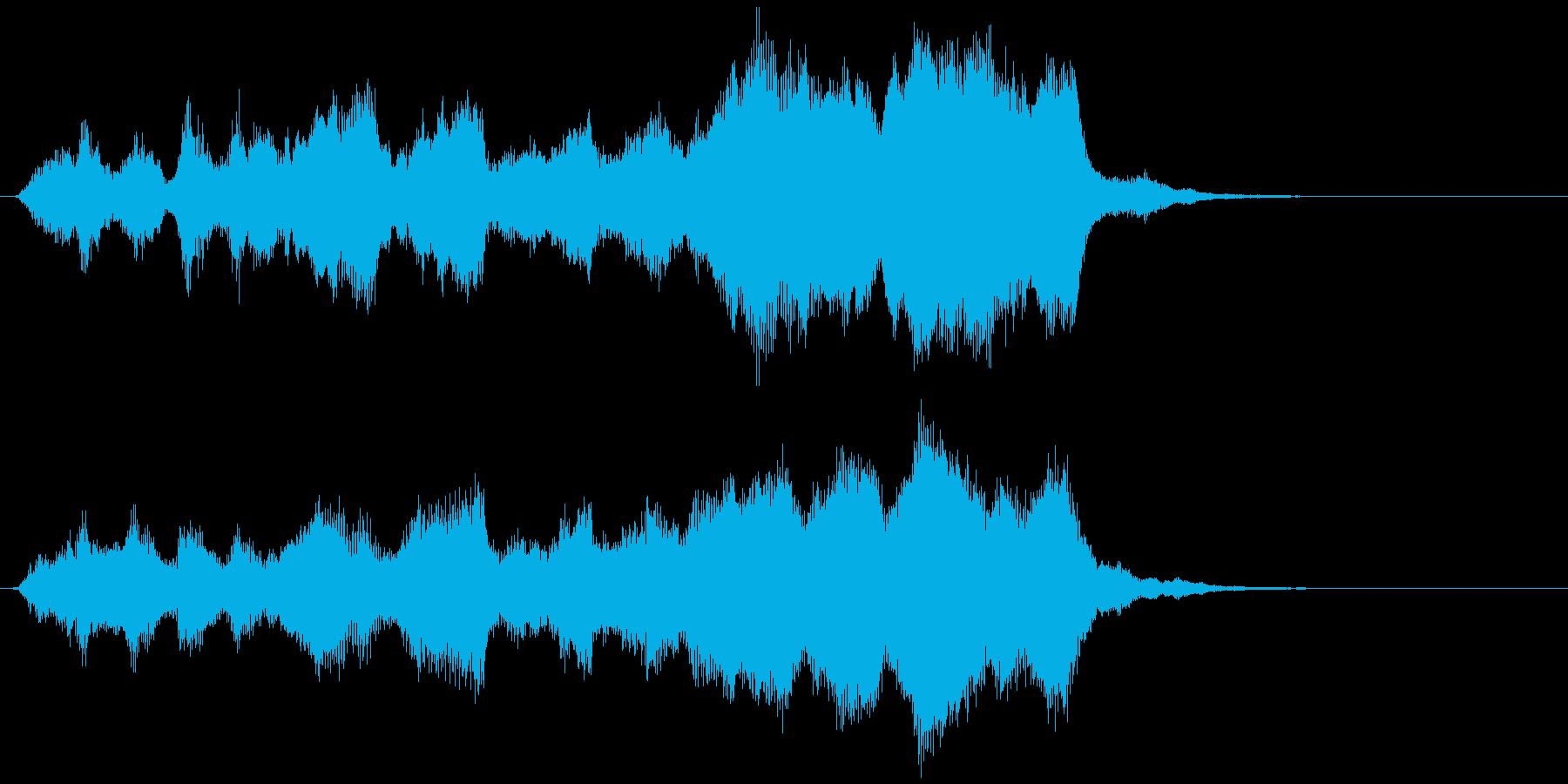 ストリングスの場転、導入ジングルの再生済みの波形