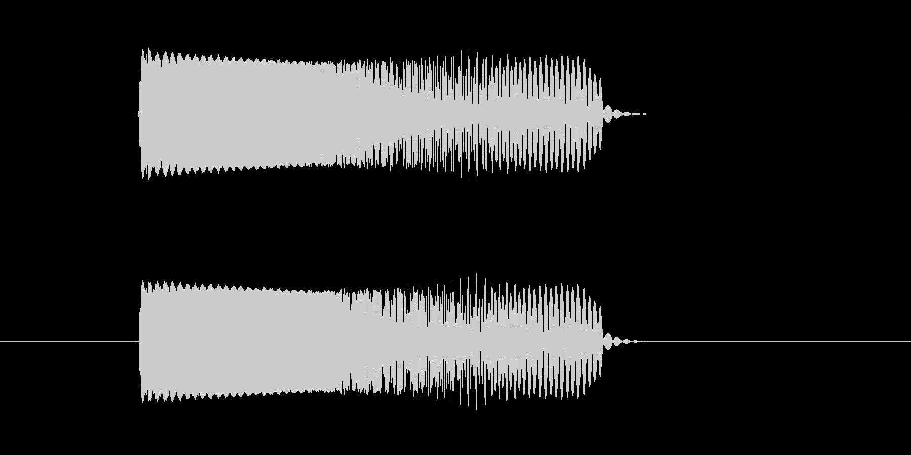 キュルキュル(宇宙、落下、回転の未再生の波形