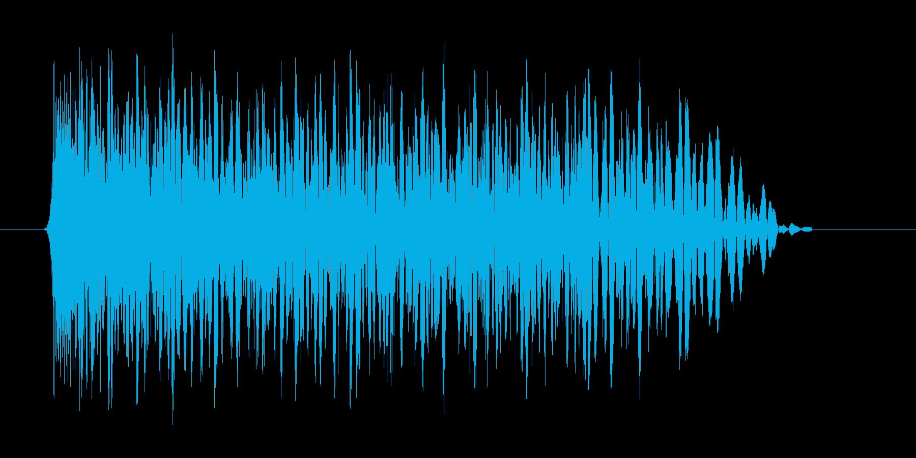 ドカーンという爆発音の再生済みの波形