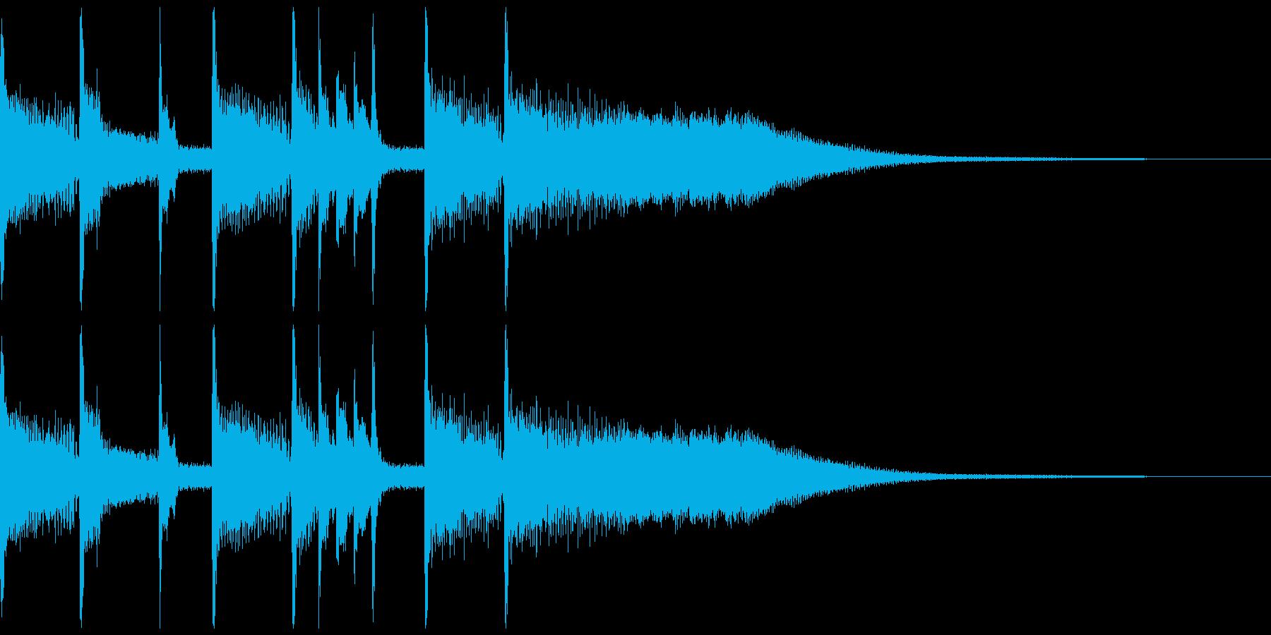 カスタネットで作ったクリックの再生済みの波形