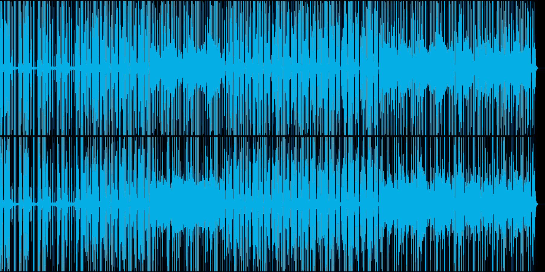 穏やかな青空を感じる電子音楽の再生済みの波形