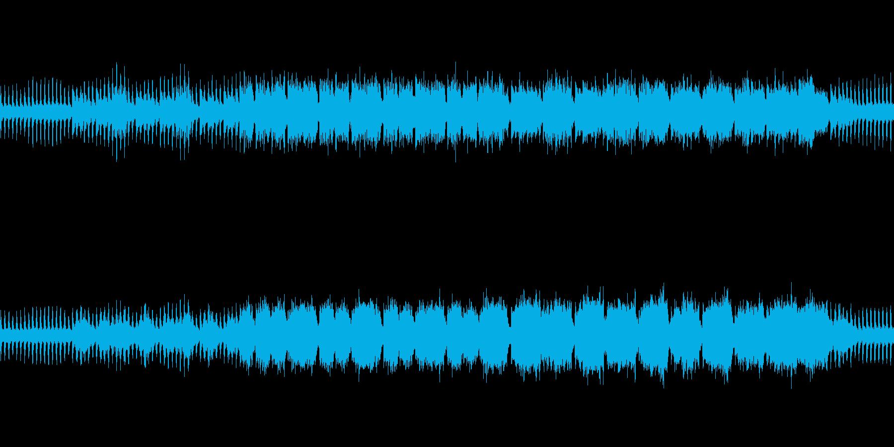 港町で流れる様なフルートメインの曲の再生済みの波形