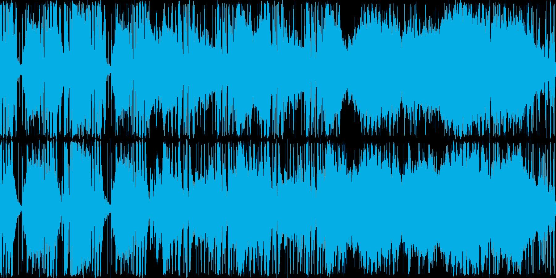 暗くて不思議な雰囲気のオーケストラ曲の再生済みの波形