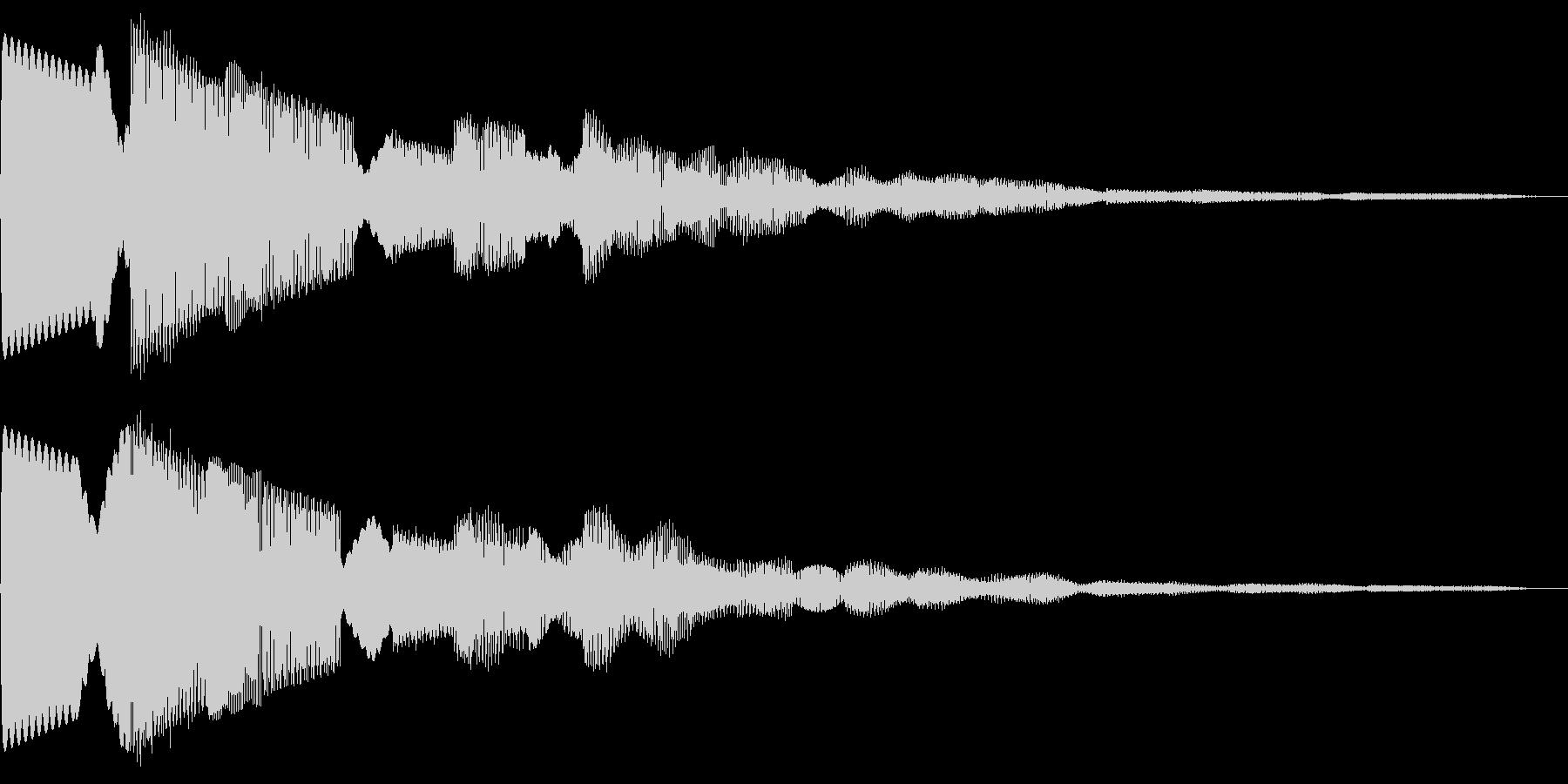 シンプルなカーソル音です。の未再生の波形