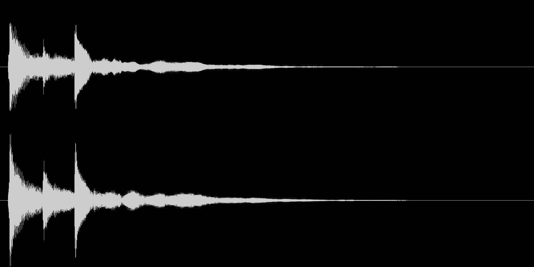 シンプルなピアノジングル01(ショート)の未再生の波形