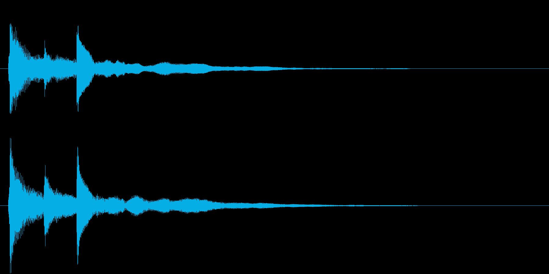シンプルなピアノジングル01(ショート)の再生済みの波形