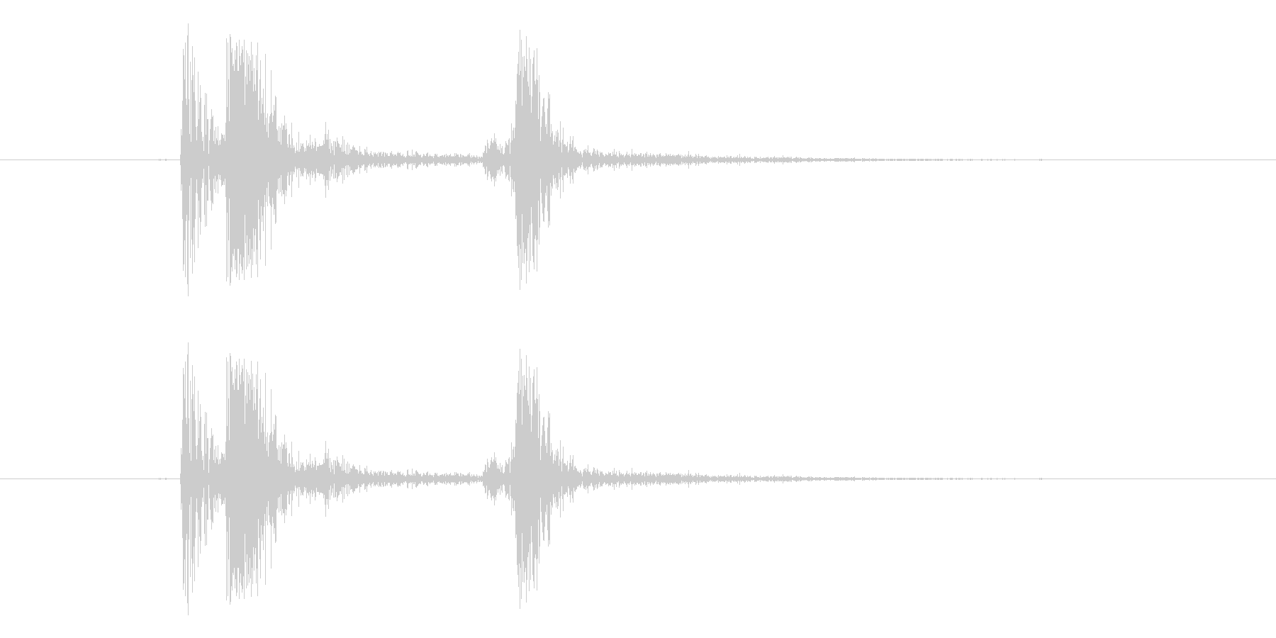 タップ音(お箸を置く音)の未再生の波形