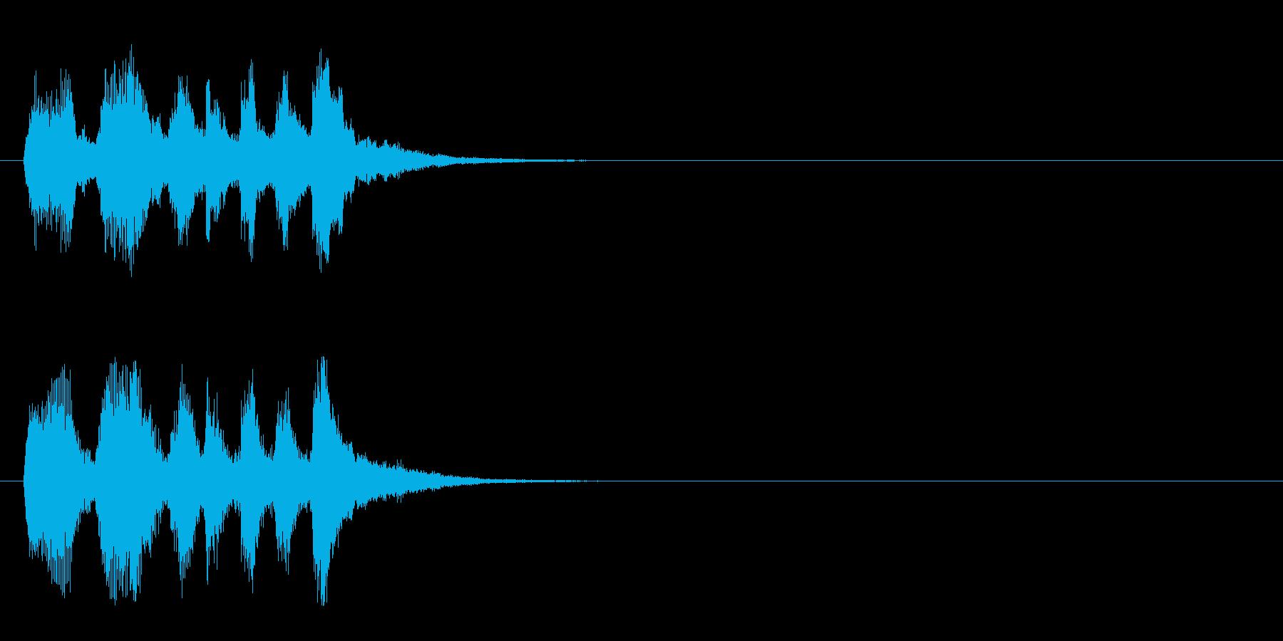 ジングル/アタック(ファンファーレ風)の再生済みの波形
