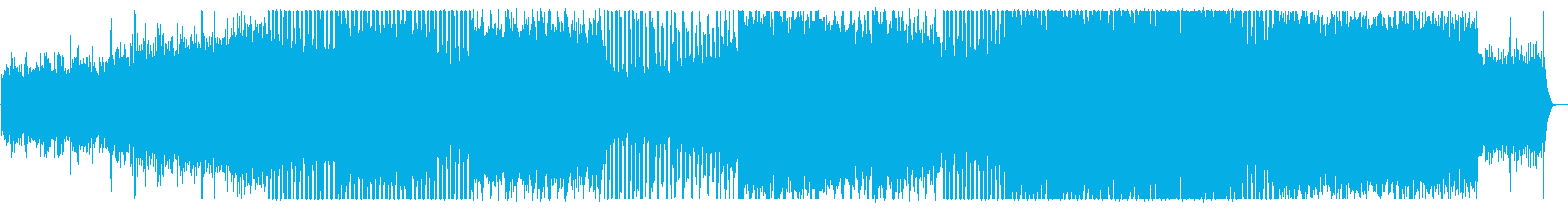 透明感がある経済的なテクノBGMの再生済みの波形