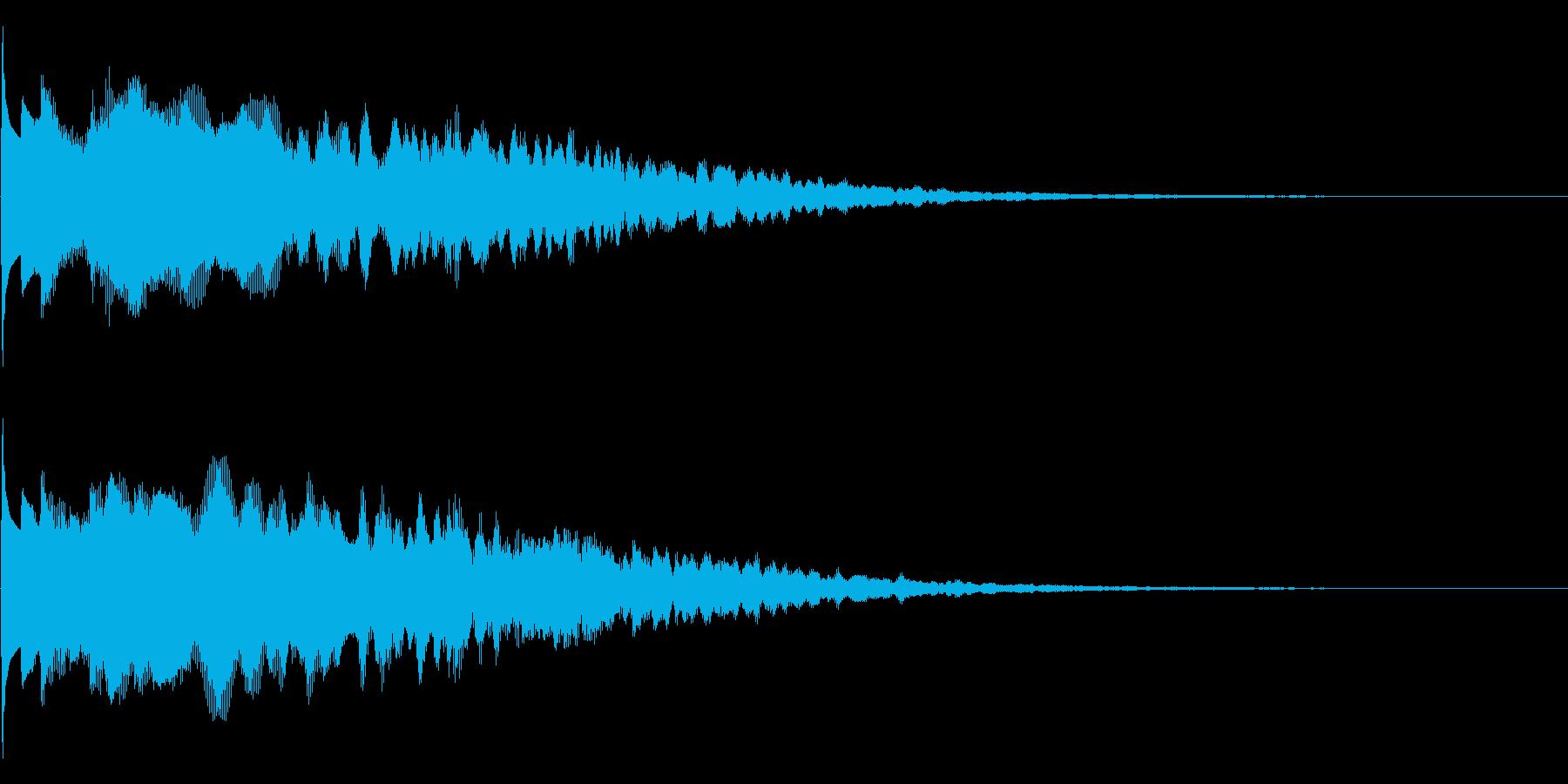 キラーン(決定音、アイテム入手音)の再生済みの波形