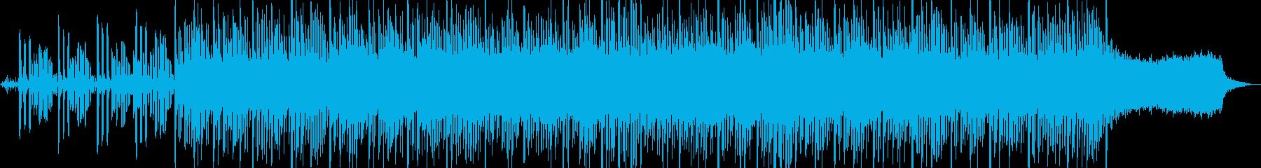 雨の高原や丘みたいなBGMの再生済みの波形