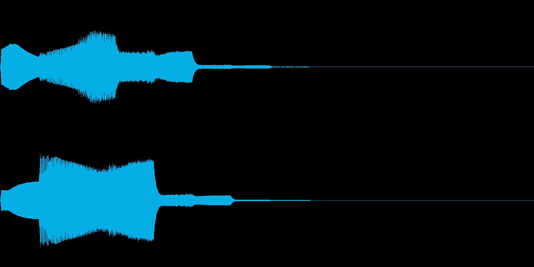 パワーアップ音02の再生済みの波形