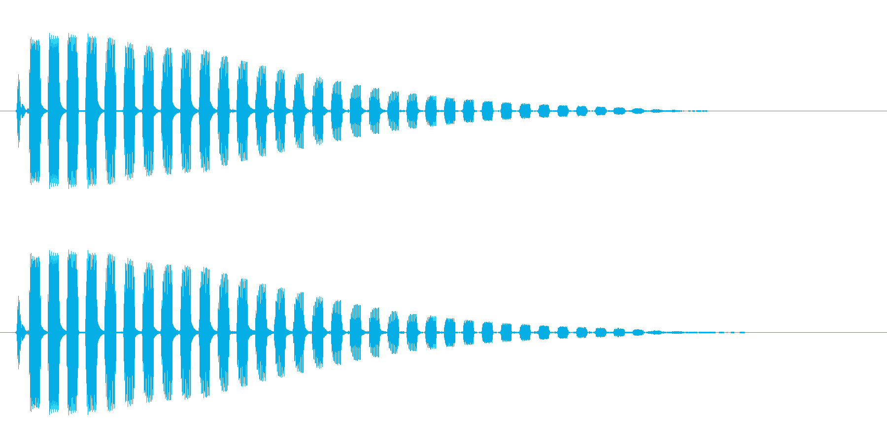 ビヨーン(蛙の飛び跳ねる音)の再生済みの波形