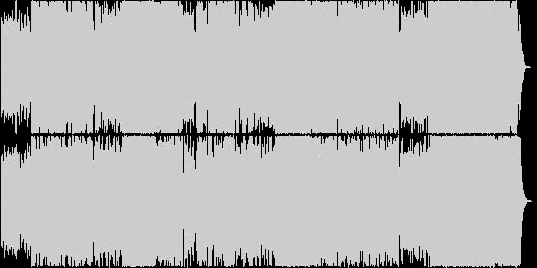 壮大で感動的なロックEDMの未再生の波形